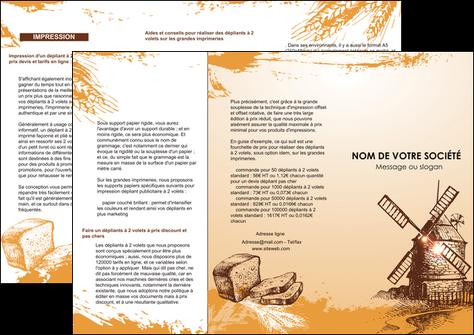 imprimer depliant 3 volets  6 pages  bar et cafe et pub boulangerie boulange boulanger MLIG25428