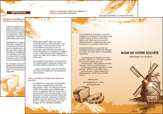 imprimer depliant 3 volets  6 pages  bar et cafe et pub boulangerie boulange boulanger MIF25428