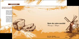 modele en ligne depliant 2 volets  4 pages  bar et cafe et pub boulangerie boulange boulanger MIF25430
