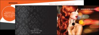 imprimerie depliant 2 volets  4 pages  centre esthetique  coiffure coiffeur coiffeuse MIF25460