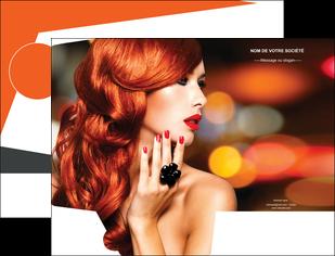 maquette en ligne a personnaliser pochette a rabat centre esthetique  coiffure coiffeur coiffeuse MIF25502