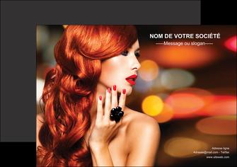 imprimer flyers centre esthetique  coiffure coiffeur coiffeuse MIF25506
