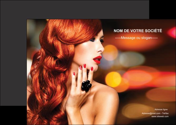 exemple flyers centre esthetique  coiffure coiffeur coiffeuse MLGI25510