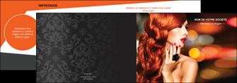 maquette en ligne a personnaliser depliant 2 volets  4 pages  centre esthetique  coiffure coiffeur coiffeuse MIF25512