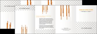 personnaliser modele de depliant 4 volets  8 pages  textures contextures structures MLGI25550