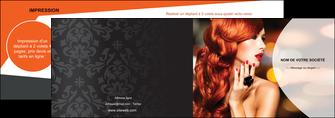 realiser depliant 2 volets  4 pages  centre esthetique  coiffure coiffeur coiffeuse MLIG25558