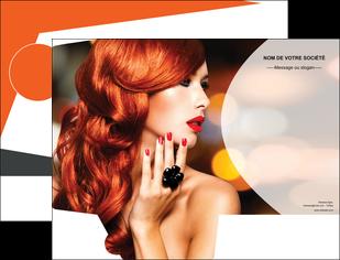 realiser pochette a rabat centre esthetique  coiffure coiffeur coiffeuse MIF25560
