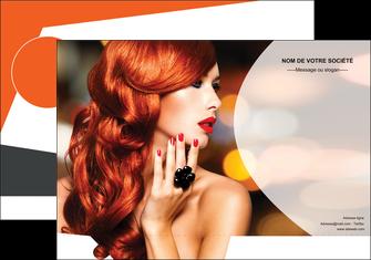 impression pochette a rabat centre esthetique  coiffure coiffeur coiffeuse MIF25562
