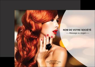 imprimer flyers centre esthetique  coiffure coiffeur coiffeuse MLGI25564