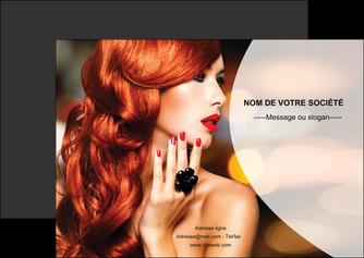 creer modele en ligne flyers centre esthetique  coiffure coiffeur coiffeuse MIF25568