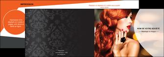 creer modele en ligne depliant 2 volets  4 pages  centre esthetique  coiffure coiffeur coiffeuse MIF25570