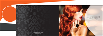creer modele en ligne depliant 2 volets  4 pages  centre esthetique  coiffure coiffeur coiffeuse MIF25572
