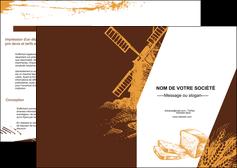 personnaliser maquette depliant 2 volets  4 pages  boulangerie boulangerie boulanger boulange MLGI25582