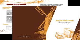 creation graphique en ligne depliant 2 volets  4 pages  boulangerie boulangerie boulanger boulange MLGI25598