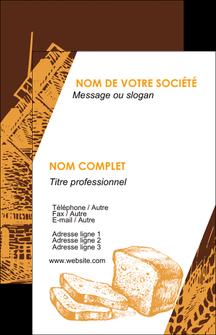 impression carte de visite boulangerie boulangerie boulanger boulange MLGI25600