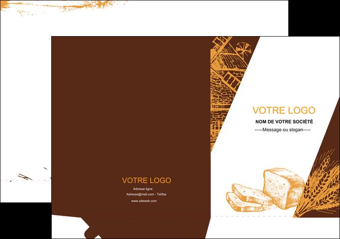 maquette en ligne a personnaliser pochette a rabat boulangerie boulangerie boulanger boulange MLGI25610