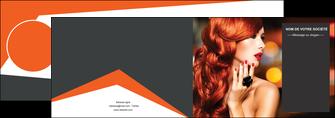 maquette en ligne a personnaliser depliant 2 volets  4 pages  centre esthetique  coiffure coiffeur coiffeuse MIF25680
