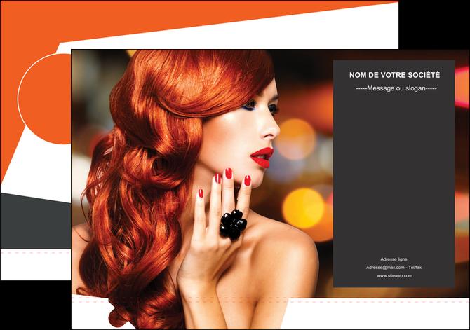 personnaliser maquette pochette a rabat centre esthetique  coiffure coiffeur coiffeuse MLGI25686