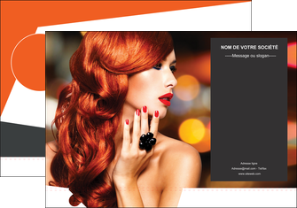 personnaliser maquette pochette a rabat centre esthetique  coiffure coiffeur coiffeuse MIF25686