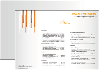 imprimer set de table bar et cafe et pub menu restaurant liste de menu set de table MIF25700