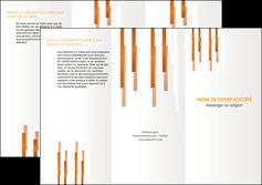 faire depliant 3 volets  6 pages  texture contexture structure MLIG25710