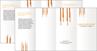 exemple depliant 4 volets  8 pages  texture contexture structure MLIG25728