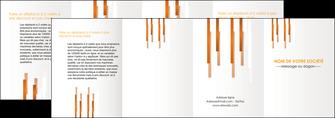 realiser depliant 4 volets  8 pages  texture contexture structure MIF25730