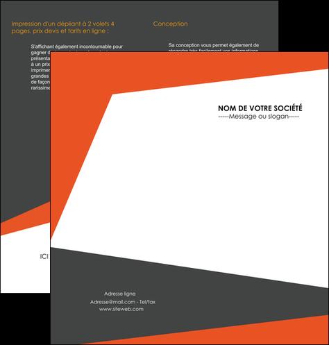 personnaliser modele de depliant 2 volets  4 pages  texture contexture structure MIF25748