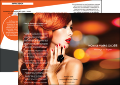 modele depliant 3 volets  6 pages  centre esthetique  coiffure coiffeur coiffeuse MIF25800