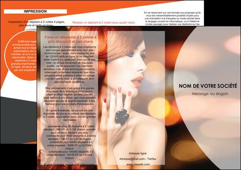 exemple depliant 3 volets  6 pages  centre esthetique  coiffure coiffeur coiffeuse MLGI25802