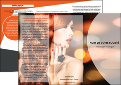 exemple depliant 3 volets  6 pages  centre esthetique  coiffure coiffeur coiffeuse MIF25802