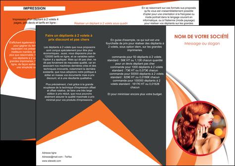 impression depliant 3 volets  6 pages  centre esthetique  coiffure coiffeur coiffeuse MLGI25804