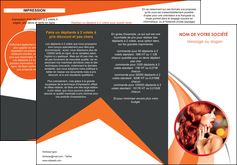 Commander Dépliant Salon de Coiffure modèle graphique pour devis d'imprimeur Dépliant 6 pages pli accordéon DL - Portrait (10x21cm lorsque fermé)