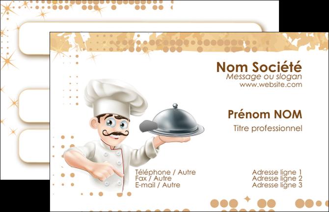 Realiser Carte De Visite Boulangerie Restaurant Restauration Restaurateur MLGI25808