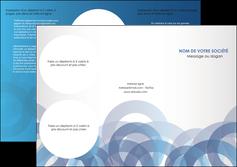 Commander Plaquette publicitaire  modèle graphique pour devis d'imprimeur Dépliant 6 pages Pli roulé DL - Portrait (10x21cm lorsque fermé)
