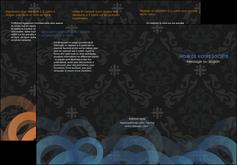Commander Plaquette commerciale  modèle graphique pour devis d'imprimeur Dépliant 6 pages pli accordéon DL - Portrait (10x21cm lorsque fermé)