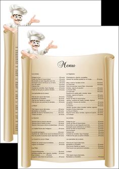 faire flyers metiers de la cuisine menu restaurant restaurant francais MLGI26184