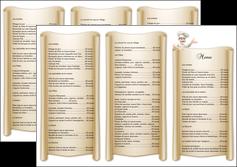 realiser depliant 3 volets  6 pages  metiers de la cuisine menu restaurant restaurant francais MLGI26186