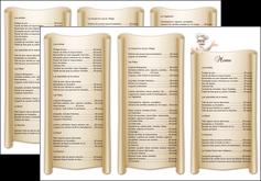 modele depliant 3 volets  6 pages  metiers de la cuisine menu restaurant restaurant francais MLGI26188