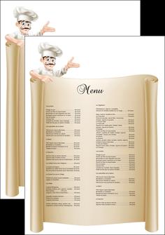 impression affiche metiers de la cuisine menu restaurant restaurant francais MLGI26192