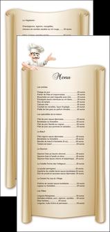 maquette en ligne a personnaliser flyers metiers de la cuisine menu restaurant restaurant francais MLGI26194