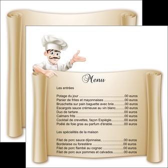 imprimer flyers metiers de la cuisine menu restaurant restaurant francais MLGI26198