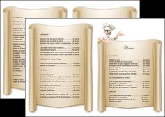 faire depliant 2 volets  4 pages  metiers de la cuisine menu restaurant restaurant francais MLGI26200