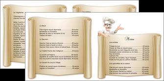 cree depliant 2 volets  4 pages  metiers de la cuisine menu restaurant restaurant francais MLGI26206
