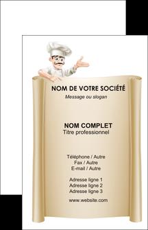 modele carte de visite metiers de la cuisine menu restaurant restaurant francais MLGI26208