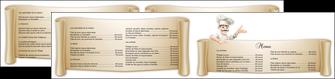 faire depliant 2 volets  4 pages  metiers de la cuisine menu restaurant restaurant francais MLGI26210
