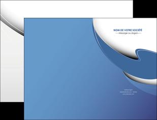 personnaliser maquette pochette a rabat ure en  bleu pastel courbes fluides MIF26222
