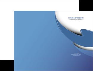 creer modele en ligne pochette a rabat ure en  bleu pastel courbes fluides MIF26224