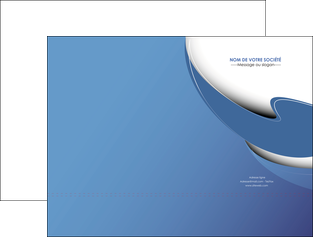 creer modele en ligne pochette a rabat ure en  bleu pastel courbes fluides MLGI26224