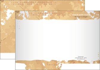Commander Chemise / pochette à rabats  modèle graphique pour devis d'imprimeur Chemises à rabats -  A4 plus - Quadri recto-verso - simple rainage